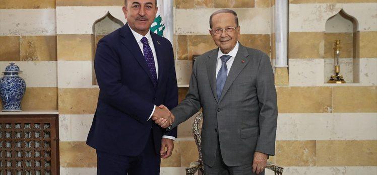 Çavuşoğlu Lübnan Cumhurbaşkanı ile bölgesel konuları görüştü