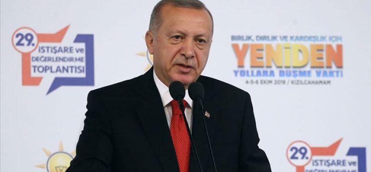 Cumhurbaşkanı Erdoğan: Amacımız Fırat'ın doğusunu barış pınarlarıyla sulamaktır
