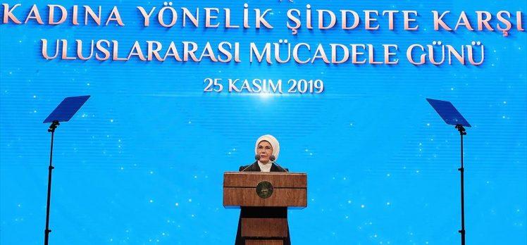 Emine Erdoğan: Söz konusu olan şiddetse kol kırıldığında yen içinde kalamaz
