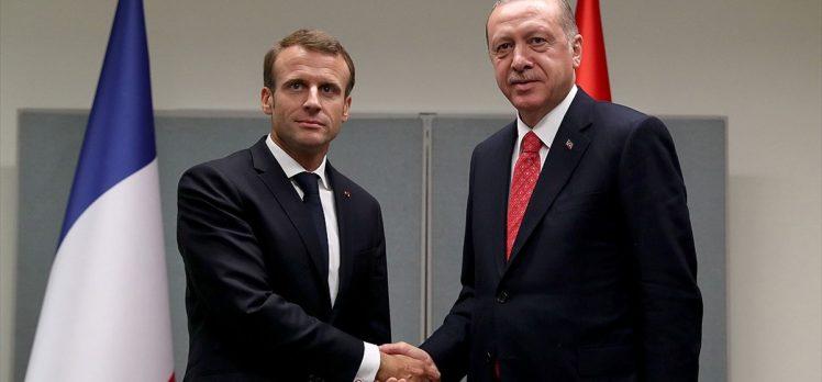 Erdoğan ile Macron İdlib'i görüştü