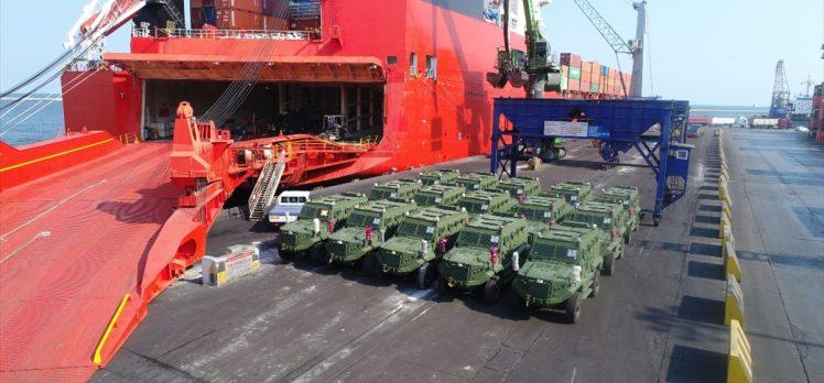 Türk zırhlı muharebe aracı 'Hızır' Afrika yolunda