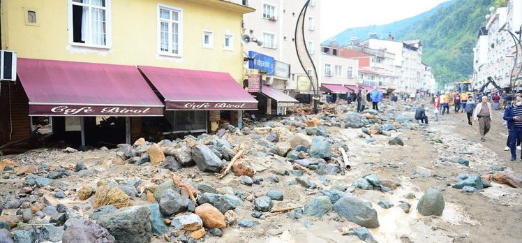Bakan Pakdemirli: Giresun'daki selde ağustos ayı ortalamasının 1,5 misli bir günde yağdı