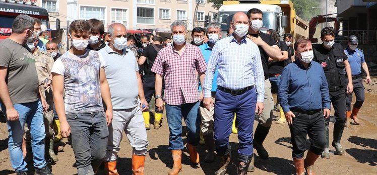 Bakan Soylu: Arama kurtarma çalışmalarımız 4 ayrı yerde devam ediyor