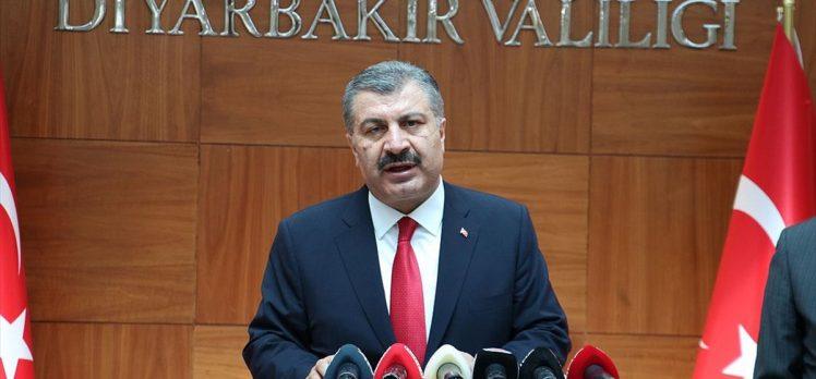 Bakan Koca: Diyarbakır'da Kovid-19 vakalarında önemli ölçüde kontrol sağlandı