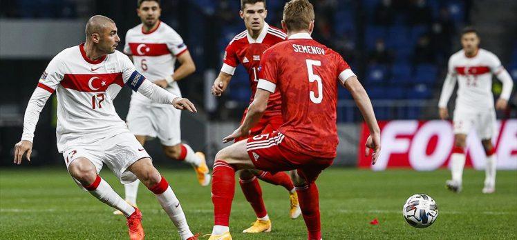 Türkiye Rusya deplasmanında 1-1 berabere kaldı
