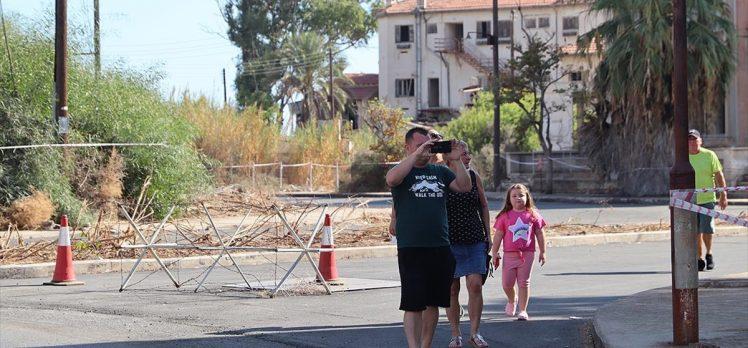 46 yılın ardından bir bölümü açılan Kapalı Maraş'a yoğun ilgi