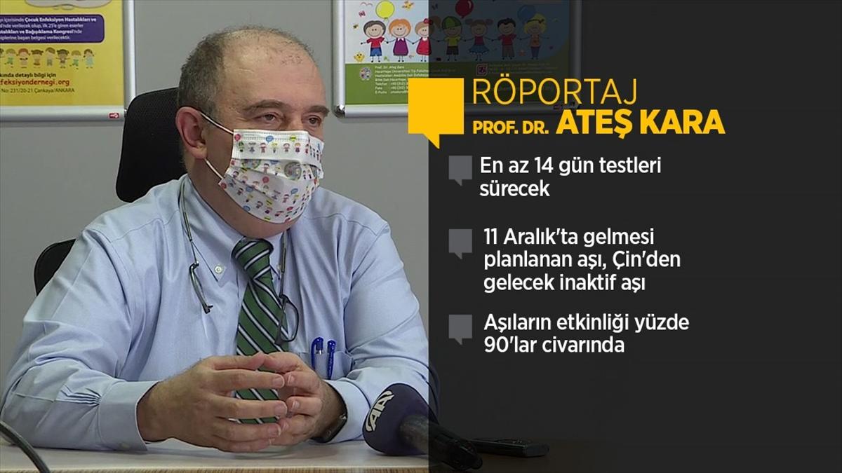 Koronavirüs Bilim Kurulu Üyesi Prof. Dr. Kara: Aşı en erken 25-26 Aralık'ta yapılmaya başlanır
