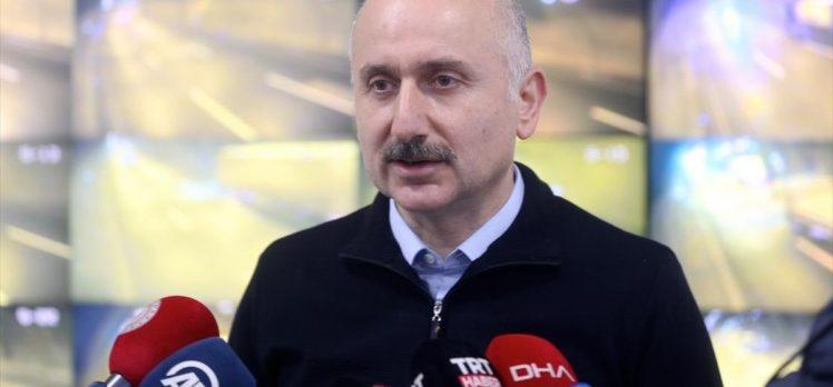 Ulaştırma ve Altyapı Bakanı Karaismailoğlu: Şu an için kara, hava ve demir yolu açısından herhangi bir sıkıntımız yok