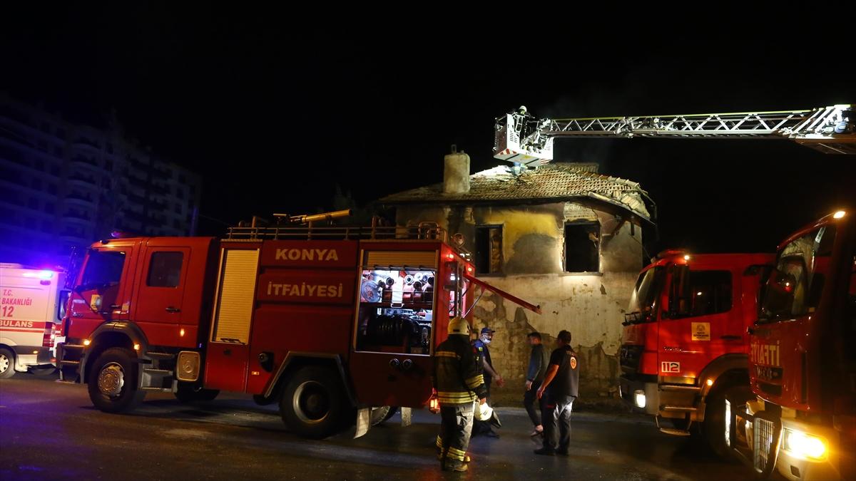 Konya'da Suriyeli ailenin kaldığı evde çıkan yangında 3 çocuk öldü