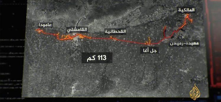 Terör örgütü YPG/PKK'nın Haseke'de Türkiye sınırı hattında 113 kilometreyi bulan tüneller kazdığı ortaya çıktı