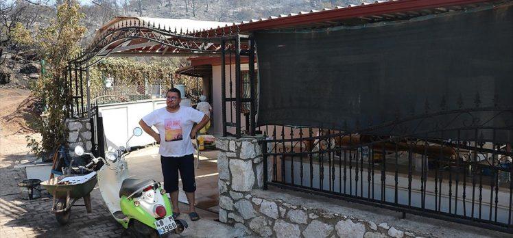Marmaris'te evi yanmaktan son anda kurtulan Mesut Akgül, o anları anlattı