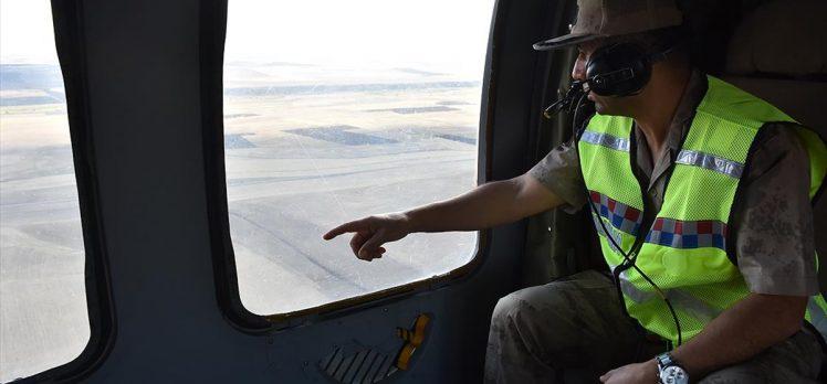Jandarma ekipleri Ağrı-Erzurum ve Ağrı-İran kara yollarını havadan denetledi